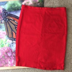 Body by Victoria red pencil skirt